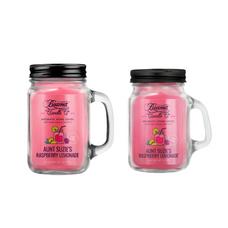 Aunt Suzie's Raspberry Lemonade 12oz & Mini 4oz Aromatic Home Series Candle Bundle
