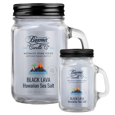 Black Lava Hawaiian Sea Salt 12oz & Mini 4oz Aromatic Home Series Candle Bundle