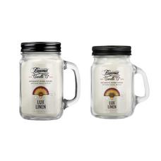 Lux Linen 12oz & Mini 4oz Aromatic Home Series Candle Bundle