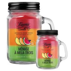Menage A Mela-Trois 12oz & Mini 4oz Aromatic Home Series Candle Bundle
