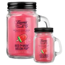 Red F*#kin' Melon Pop 12oz & Mini 4oz Aromatic Home Series Candle Bundle