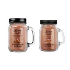 Whiskey Barrels & Cubans 12oz & Mini 4oz Aromatic Home Series Candle Bundle