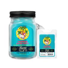 Caribbean Island Party 4oz Mini Smoke Killer Collection Candle & Wax Drop Bundle