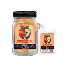 Detroit Apple Pie 4oz Mini Smoke Killer Collection Candle & Wax Drop Bundle
