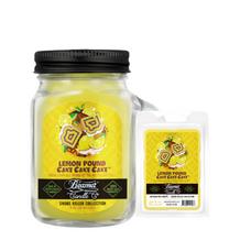 Lemon Pound Cake Cake Cake 4oz Mini Smoke Killer Collection Candle & Wax Drop Bundle