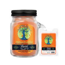 Michigan Peach Tree 4oz Mini Smoke Killer Collection Candle & Wax Drop Bundle