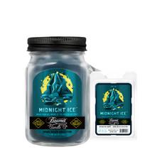 Midnight Ice 4oz Mini Smoke Killer Collection Candle & Wax Drop Bundle