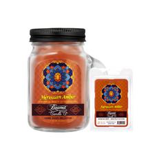 Moroccan Amber 4oz Mini Smoke Killer Collection Candle & Wax Drop Bundle