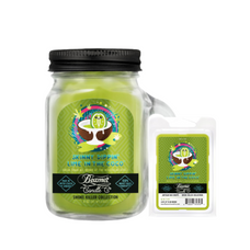 Skinny Dippin' Lime in the Coco 4oz Mini Smoke Killer Collection Candle & Wax Drop Bundle