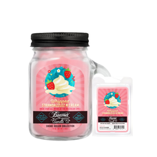 Whipped Strawdazzles N Cream 4oz Mini Smoke Killer Collection Candle & Wax Drop Bundle