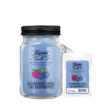 Blueberries Smell Like Raspberries 4oz Mini Aromatic Home Series Candle & Wax Drop Bundle