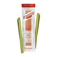 Kush - Terpene Infused Herbal Wraps - Clementine Flavor - 2-Ct