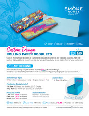 Custom Rolling Paper Designed by Beamer - MOQ 1,000 Units (CUSTOM Graphics/Private Label - Rolling Paper-  - MOQ 1,000)