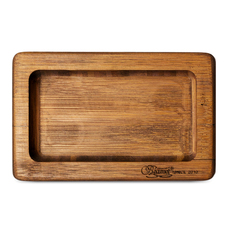 "Beamer Pocket Bamboo Rolling Tray, Original Finish - 6"" x 3.5"""