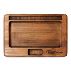"Beamer Juju Bamboo Rolling Tray, Original Finish - 7"" x 5"""