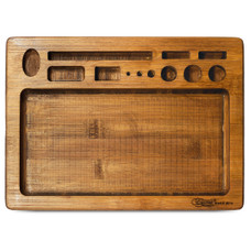 "Beamer Val Bamboo Rolling Tray, Original Finish - 10"" x 7"""
