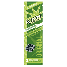Kush Original Flavor Herbal Hemp Wraps - 2 Count Packs