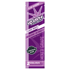 Kush Mixed Grape Flavor Herbal Hemp Wraps - 2 Count Packs