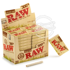 Raw Organic 300's 1 ¼ Size Rolling Papers