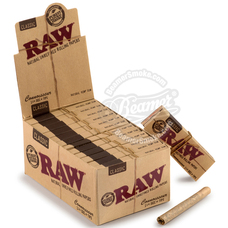 Raw Natural Connoisseur 1 ¼ Size Rolling Papers with Rolling Tips