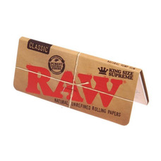 "Raw Natural ""Supreme"" King Size Rolling Papers"