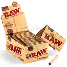 Raw Natural Artesano 1 ¼ Size Rolling Papers with Rolling Tips and Tray