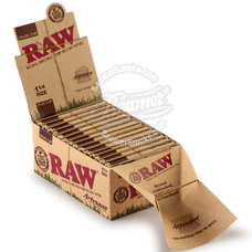 Raw Organic Artesano 1 ¼ Size Rolling Papers with Rolling Tips and Tray