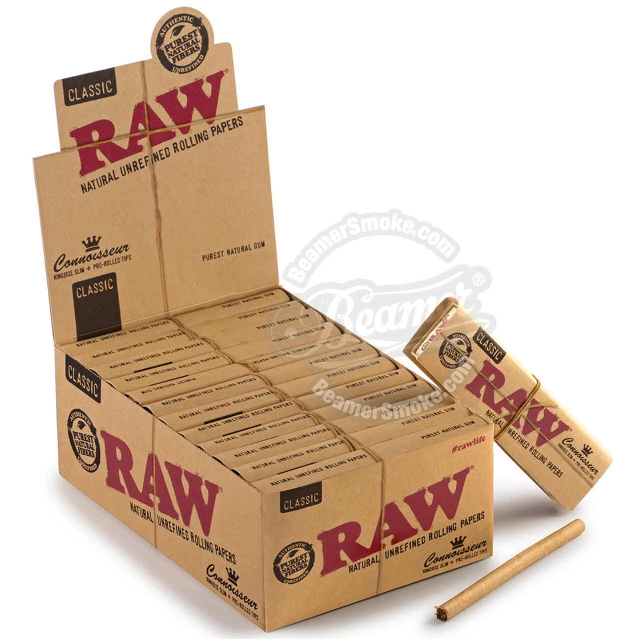 37ae873a39d2e Raw Natural Connoisseur King Size Rolling Papers with Prerolled Rolling Tips