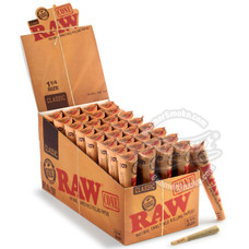 Raw Natural 1 ¼ Size Pre-Rolled Cones - 6 Count Packs