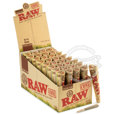 Raw Organic 1 ¼ Size Pre-Rolled Cones - 6 Count Packs