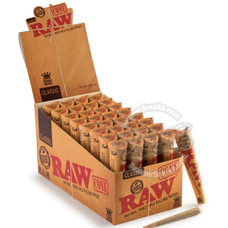 Raw Natural King Size Pre-Rolled Cones - 3 Count Packs