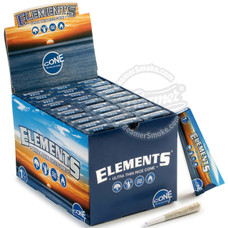 Elements Rice 1 ¼ Size Pre-Rolled Cones - 6 Count Packs