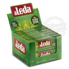 Aleda Green Pack Transparent King Size Slim Rolling Papers