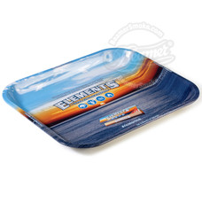 "Elements Large Metal Rolling Tray, Original Blue Logo Design - 13.5"" x 11"""