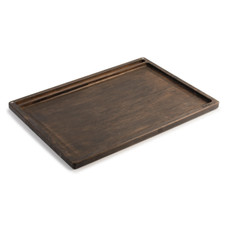 Beamer Goliath Natural Bamboo Rolling Tray - Dark - 21 X 15 inch
