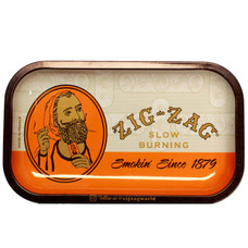 "Zig Zag Medium Metal Rolling Tray, Original Design - 11"" x 7"""