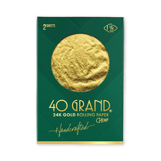 Beamer 40 Grand 1 1/4 Size 24 Karat Gold Organic Rolling Paper