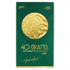 Beamer 40 Grand King Size 24 Karat Gold Organic Rolling Paper