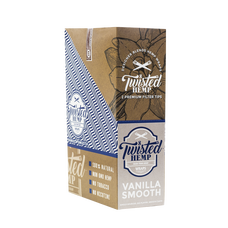 Twisted Vanilla Smooth Flavor Designer Hemp Wraps - 2 Count Packs