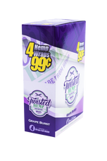 Twisted Grape Burst Flavor Hemp Wraps - 4 Count Packs