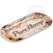 "Pure Hemp Extra Small Metal Rolling Tray - 8"" x 4"""