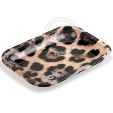 "OCB Medium Metal Rolling Tray, Jaguar Design - 11.5"" x 7.5"""