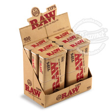 Raw Pre-Rolled Rolling Tips - 100 Count Tin