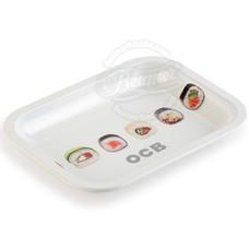 """OCB Medium Metal Rolling Tray, Sushi Design - 11.5"""" x 7.5"""""""