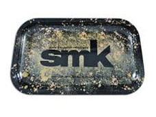 "SMK Medium Metal Rolling Tray, Gold - 11"" x 7"""