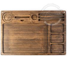 "Beamer Goliath All-in-One Bamboo Rolling Tray, Original Finish - 21"" x 15"""