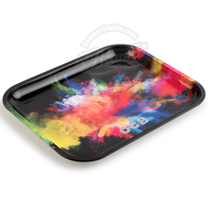 "OCB Large Metal Rolling Tray, Holi Design - 14"" x 11"""