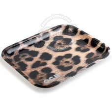 "OCB Large Metal Rolling Tray, Jaguar Design - 14"" x 11"""