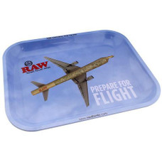 "Raw Large Metal Rolling Tray, Flying Design - 14"" x 11"""