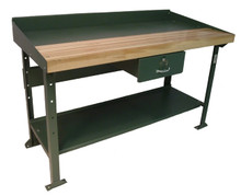 Work Bench with Steel-Wood Top